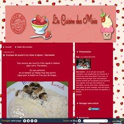 Escalope de poulet à la crème d'oignon - thermomix - La cuisine des minis