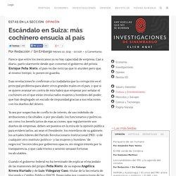 Escándalo en Suiza: más cochinero ensucia al país