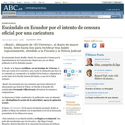 Escándalo en Ecuador por el intento de censura oficial por una caricatura