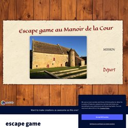 escape game by accueil.manoir on Genially