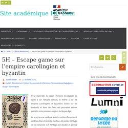 5H - Escape game sur l'empire carolingien et byzantin