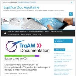 Ludification Escape game au CDI