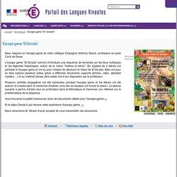 """Escape game """"El Dorado"""" — Portail des langues vivantes de l'académie de Lille"""