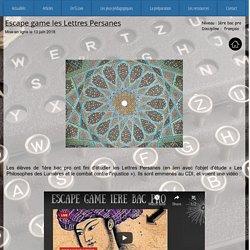 Escape game les lettres persanes