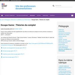 Escape Game : Théories du complot