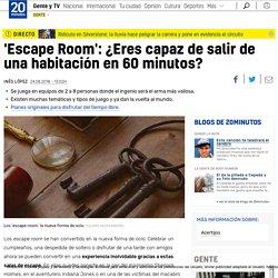 'Escape Room': ¿Eres capaz de salir de una habitación en 60 minutos?