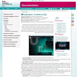 Escape game : un hacker au CDI - Documentation