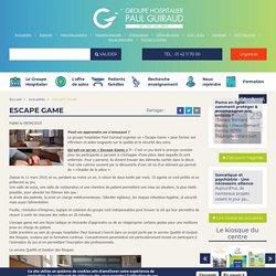Escape Game #qualité et la sécurité des soins.