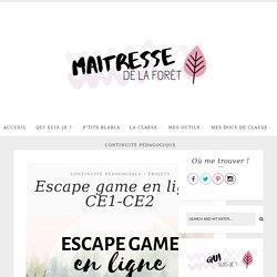 Escape game en ligne CE1-CE2