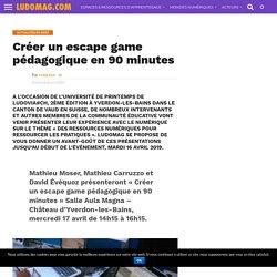 Créer un escape game pédagogique en 90 minutes