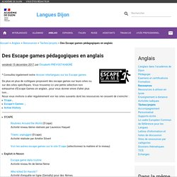 Escape games pédagogiques