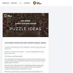 100 Escape Room Puzzle Ideas – Nowescape