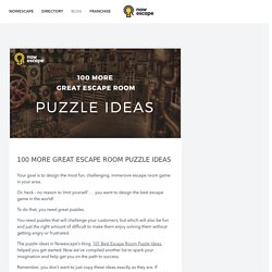 100 Escape Room Puzzle Ideas – Nowescape