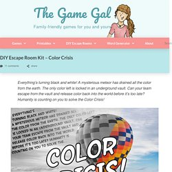 DIY Escape Room Kit - Color Crisis - The Game Gal