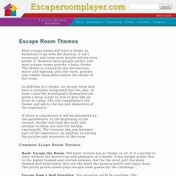 Escape Room Themes