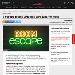 4 escape rooms virtuales para jugar en casa