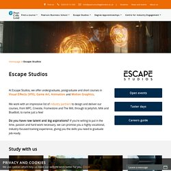 Computer graphics, animation, VFX & games courses - Escape Studi