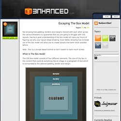 Escaping the Box Model -- 3nhanced.com - Imagine, Design, Develop, Create the Web