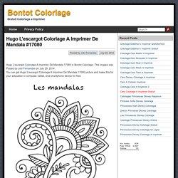 Hugo L'escargot Coloriage A Imprimer De Mandala