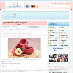 Tejido a crochet: tiernos escarpines