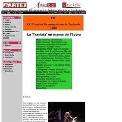 Artez, Revista de las Artes Escénicas - teatro, danza, música, audiovisuales