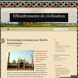 Eschatologie islamique avec Sheikh Imran Hosein