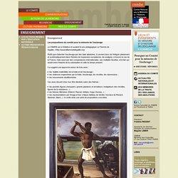 [Site du CNMHE, Comité national pour la Mémoire et l'Histoire de l'Esclavage] : Enseignement