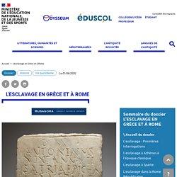 L'esclavage en Grèce et à Rome