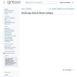Esclavage dans la Rome antique