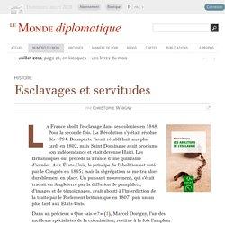 Esclavages et servitudes, par Christophe Wargny (Le Monde diplomatique, juillet 2018)