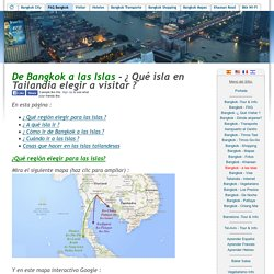 ¿Qué isla escoger a visitar en Tailandia y cómo llegar - las mejores islas de Tailandia