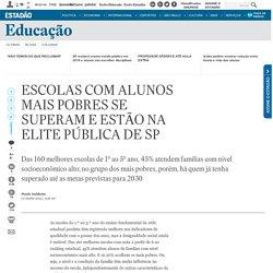 Escolas com alunos mais pobres se superam e estão na elite pública de SP