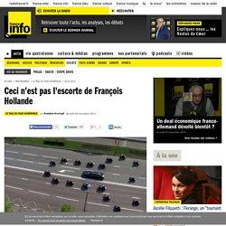 Ceci n'est pas l'escorte de François Hollande