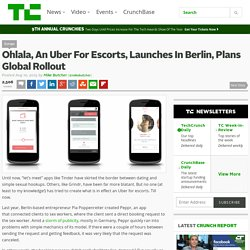 Ohlala, An Uber For Escorts, Launches In Berlin, Plans Global Rollout