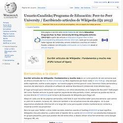 P2PU - Programa de Educación / Escribiendo artículos de Wikipedia