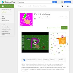 Escribir alfabeto – Applications Android sur Google Play