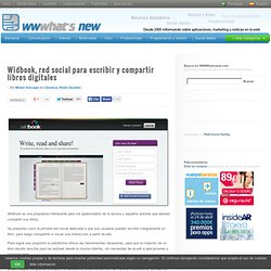 Widbook, red social para escribir y compartir libros digitales