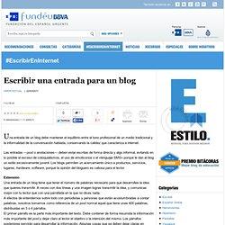 Escribir una entrada para un blog