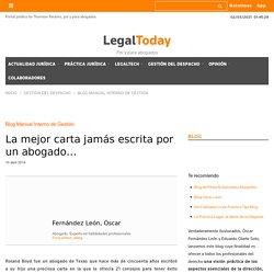 La mejor carta jamás escrita por un abogado… - LegalToday