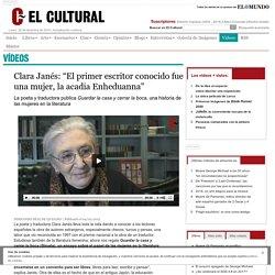 """Clara Janés: """"El primer escritor conocido fue una mujer, la acadia Enheduanna"""""""