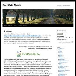 LibreOffice – Caminhando sem fronteiras.