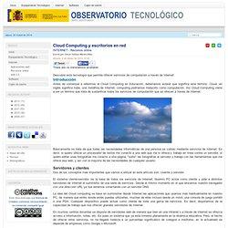 Cloud Computing y escritorios en red