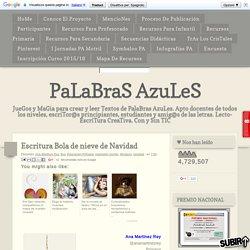 PaLaBraS AzuLeS: Escritura Bola de nieve de Navidad