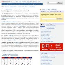 1. Escritura japonesa y pronunciación del japonés