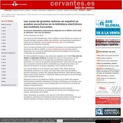 Las voces de grandes autores en español ya pueden escucharse en la biblioteca electrónica del Instituto Cervantes