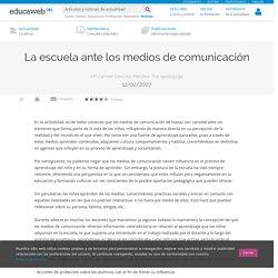 La escuela ante los medios de comunicación