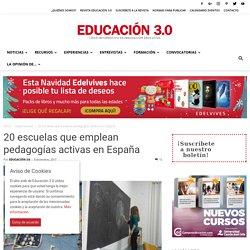 10 escuelas que emplean pedagogías activas en España