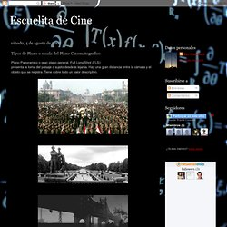 Escuelita de Cine: Tipos de Plano o escala del Plano Cinematografico