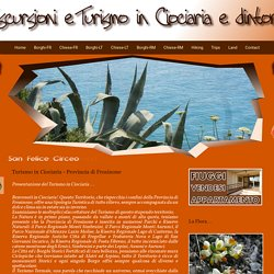 Turismo in Ciociaria - Provincia di Frosinone