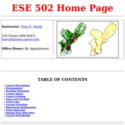 ESE 502 Home Page
